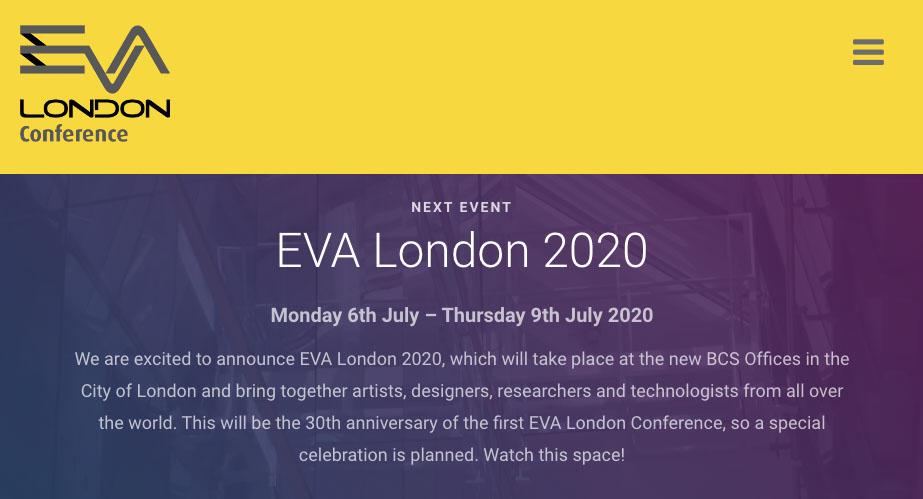 EVA website screenshot
