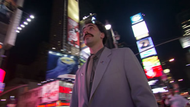 Borat in Times Square, New York