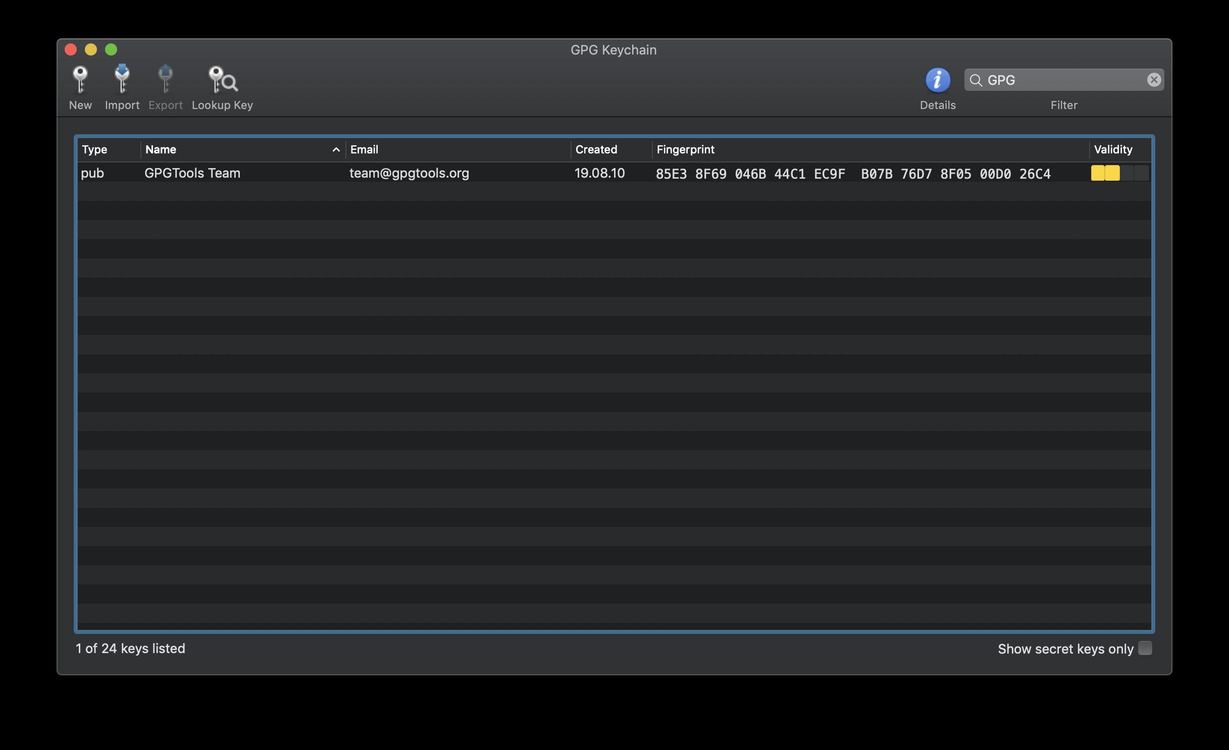 GPG Suite screenshot