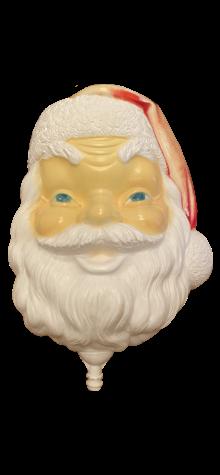Santa Face on Stake photo