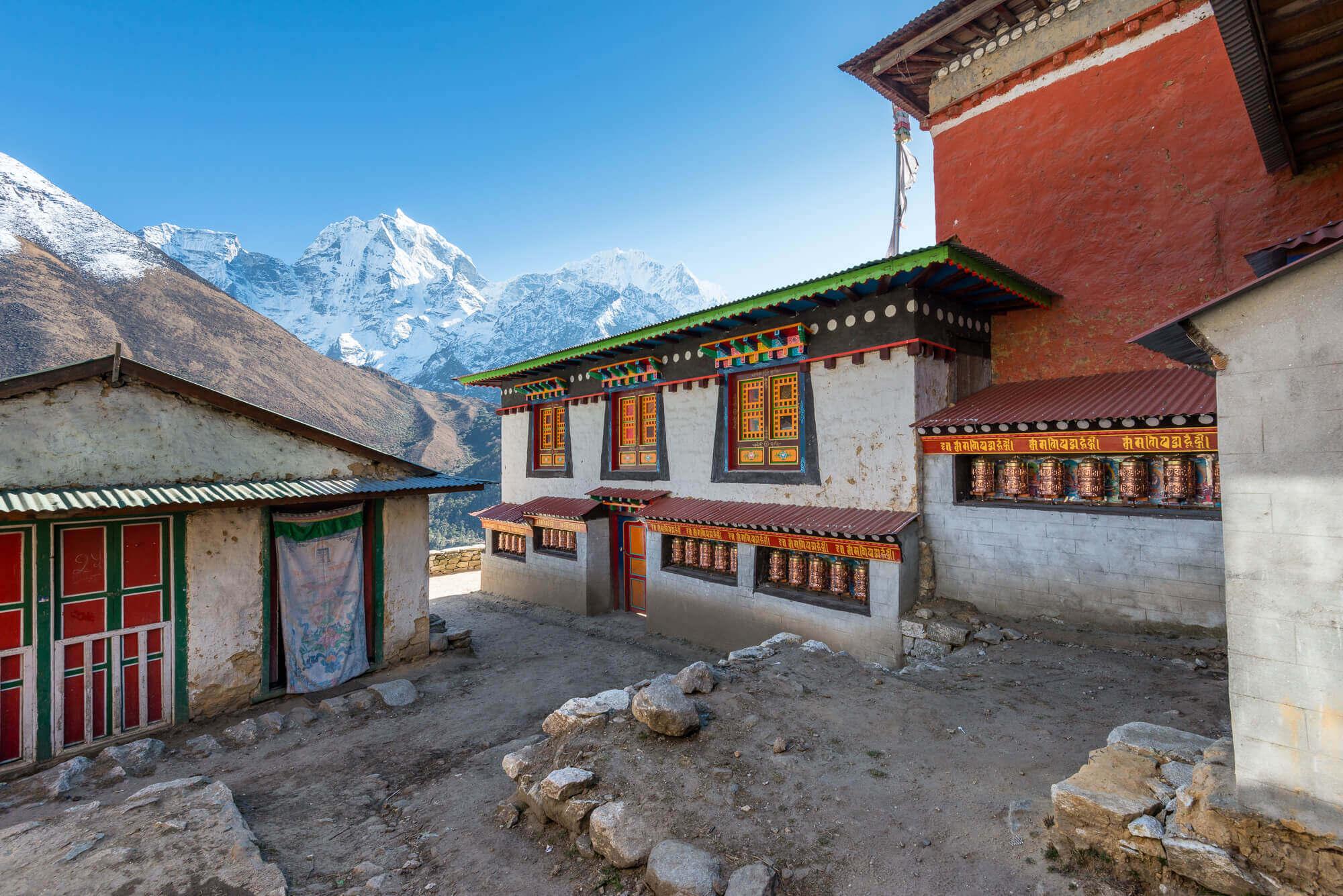 Pangboche Monastery - Amazing backdrop