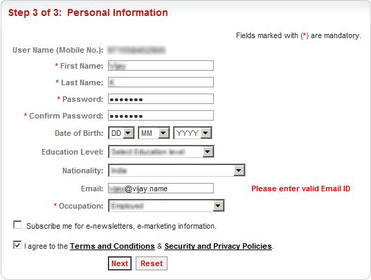 RTA Registration Form