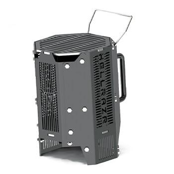 Incinérateur: cheminée d'allumage et gril portatif