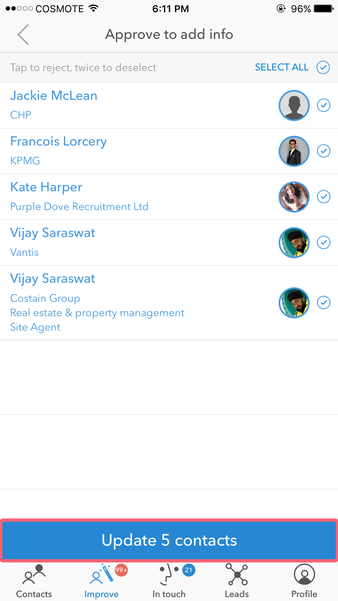 How to add job information to my contacts - Covve