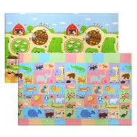 BABY CARE Spielmatte Busy Farm 210x140 cm