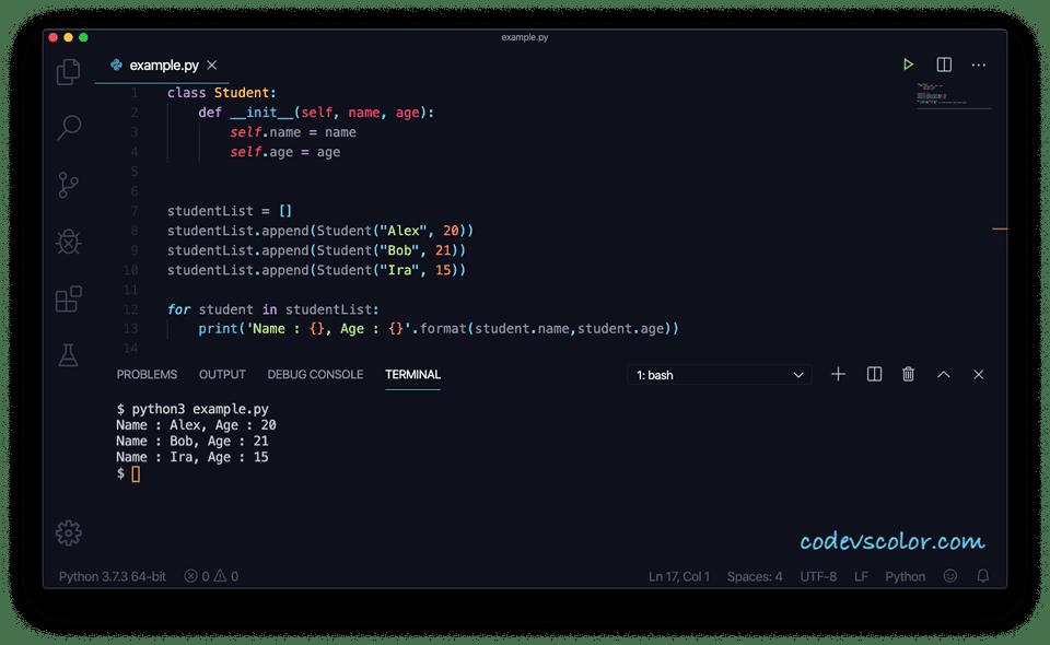 Python list objects