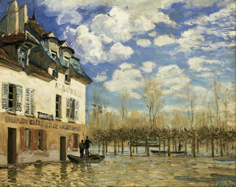 'Flood at Port-Marly', painted by Alfred Sisley in 1876, Musée d'Orsay