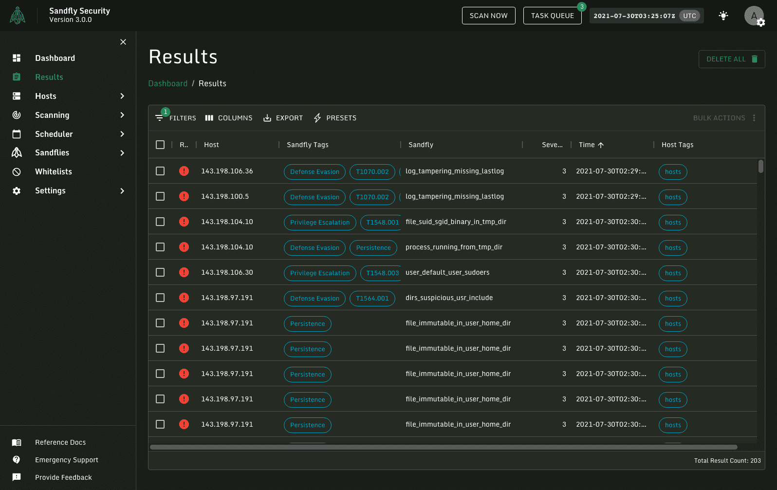 Viewing all alerts