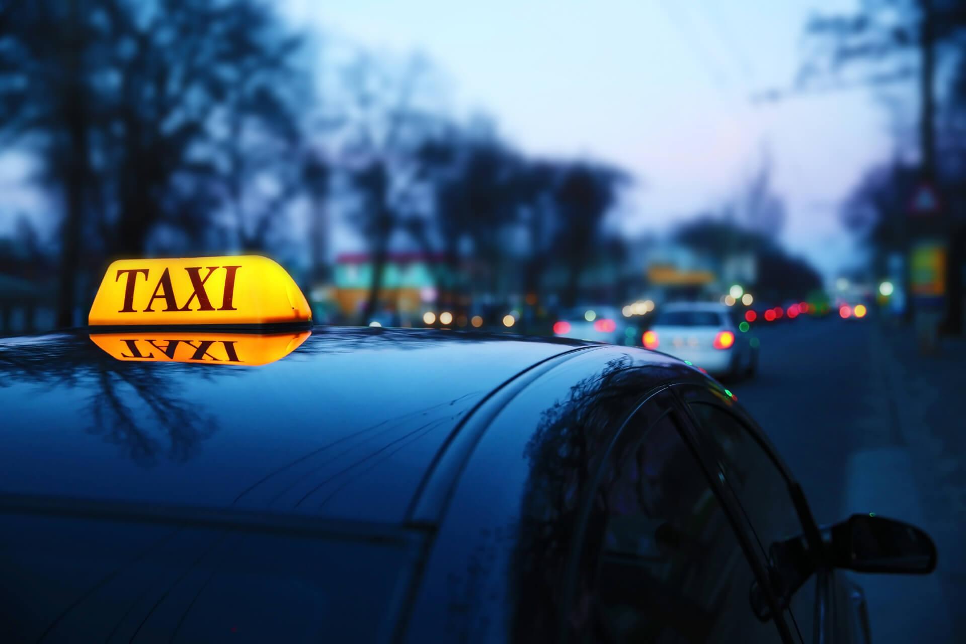 taxi cab on street