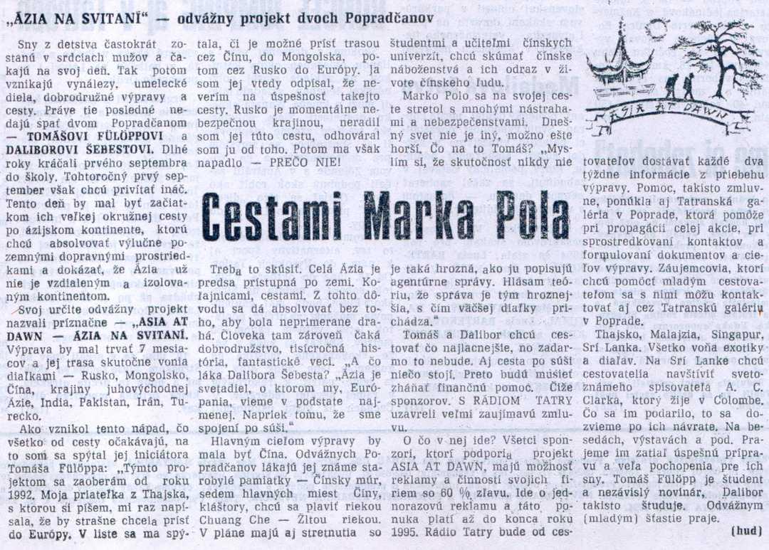 Podtatranské noviny, č. 24, 16. júna 1994 (Pavol Hudák)