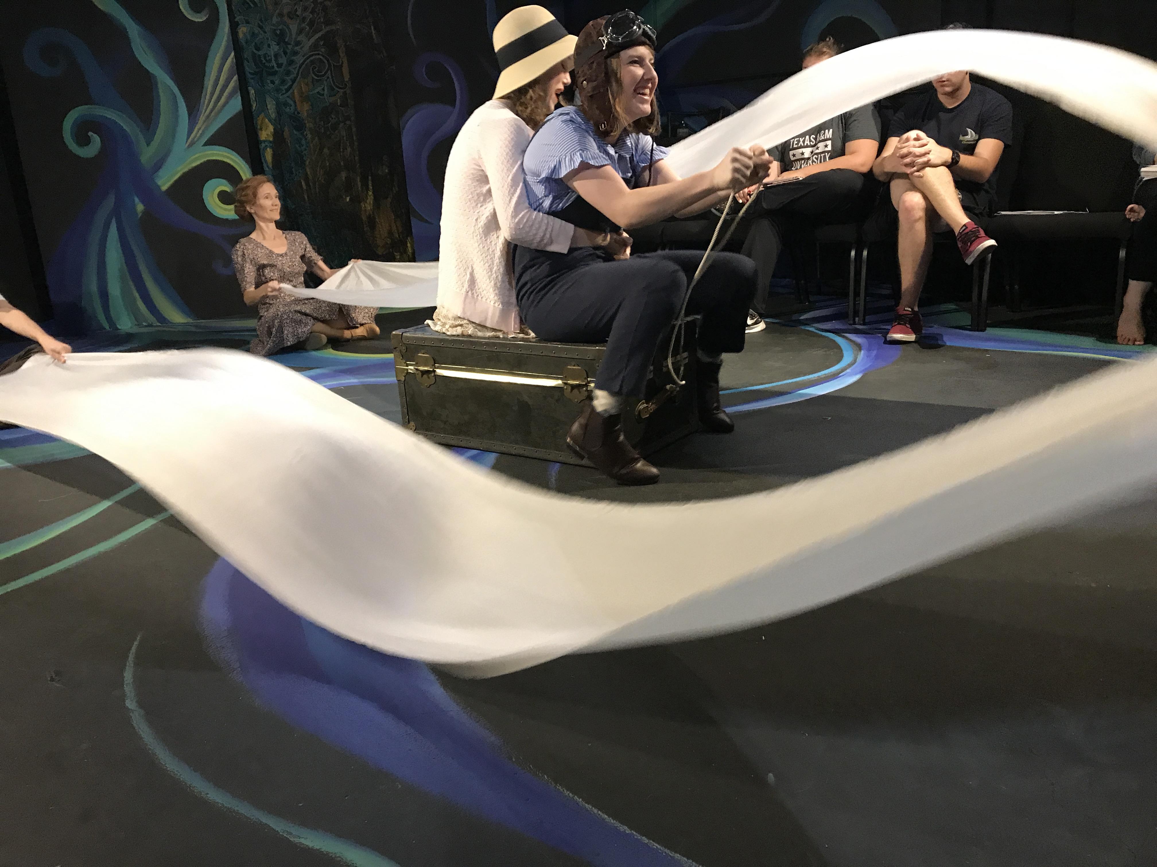 Iro and Annika flying Pegasus