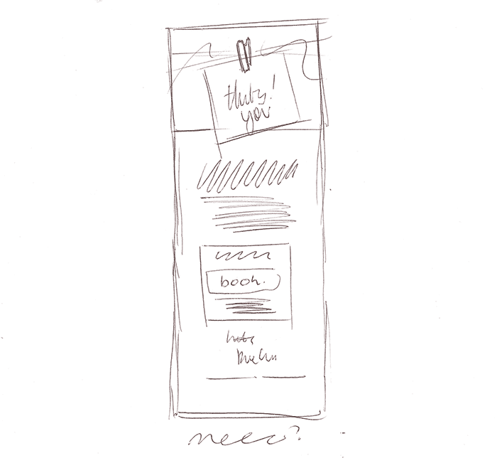 Sketching an Email Design