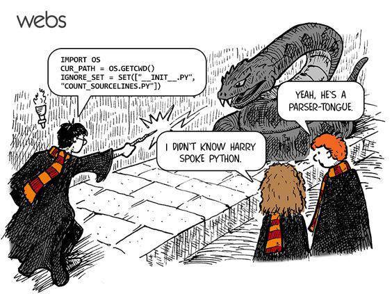Even Harry Potter uses parser-tongue to speak Python