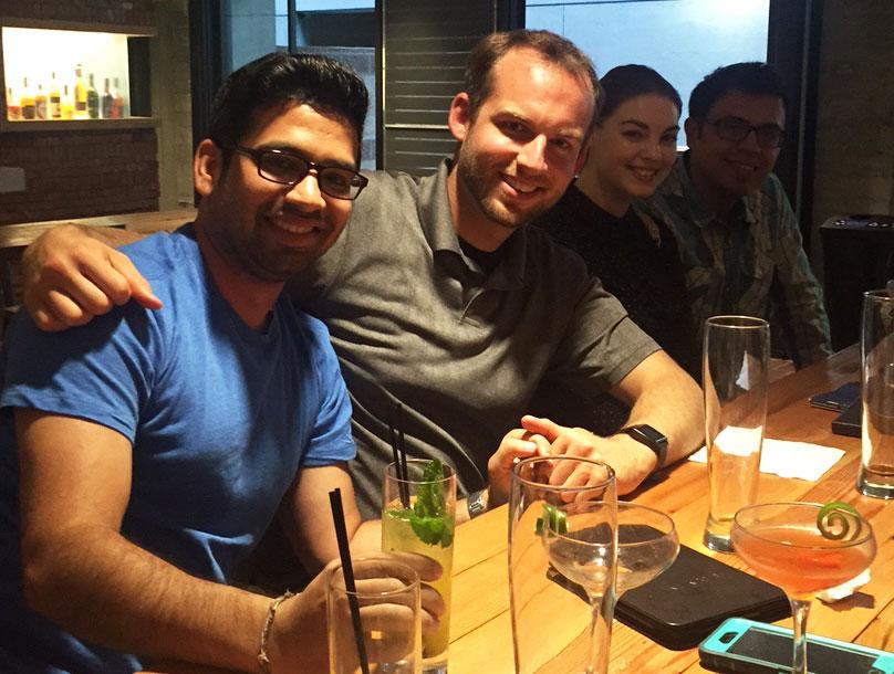 Amit, Brad, Sarah, and Ruben