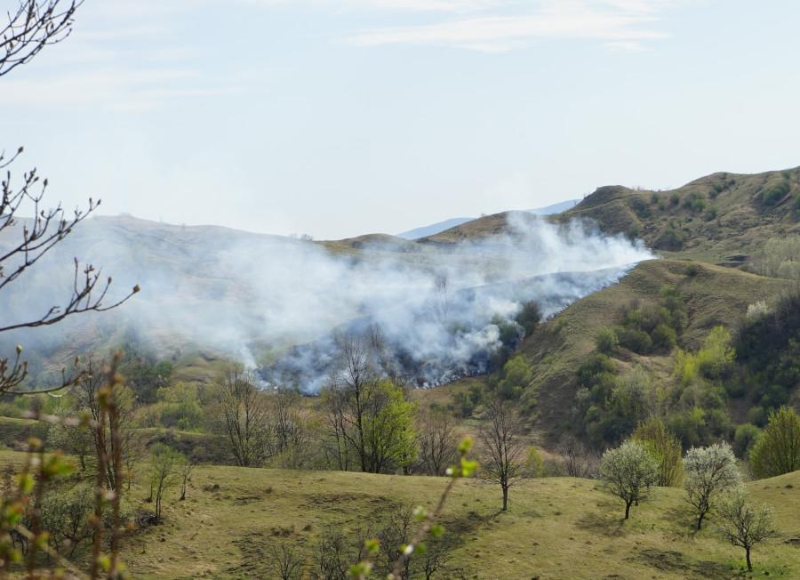 Pârjolirea pământului la Buzău