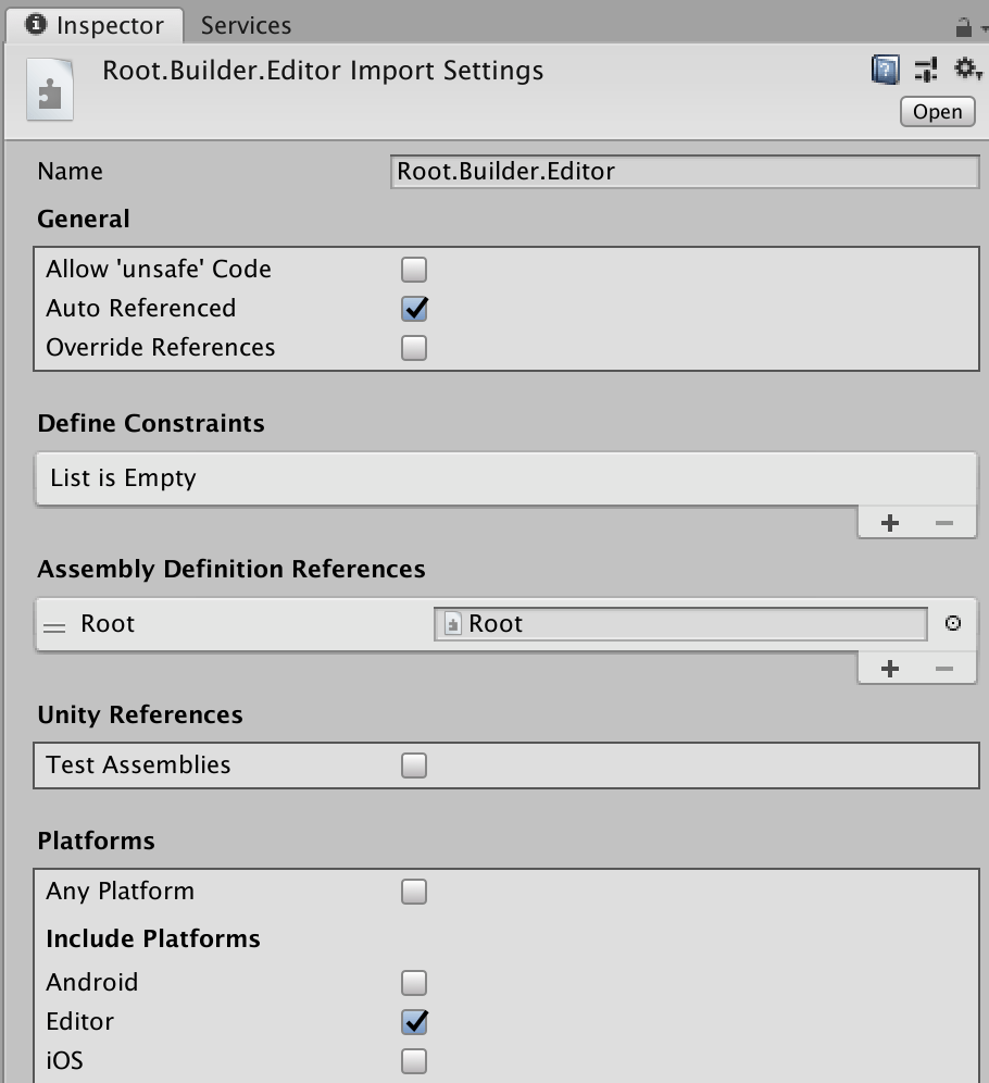 Editor Assembly Definition