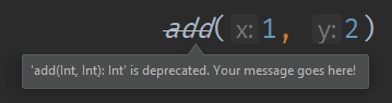 An example of the warning deprecation level