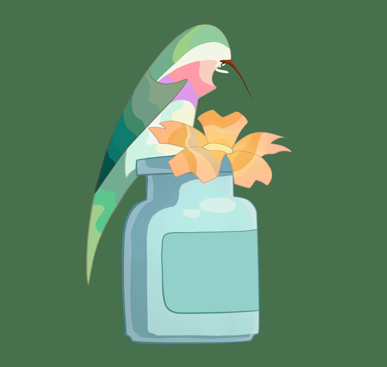 Ilustración de terapia floral