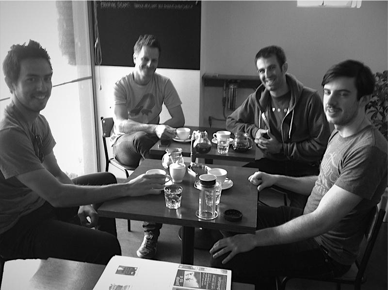 Icelab drinking coffee in Wellington