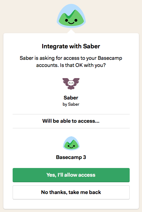 Basecamp Integration Stage 2