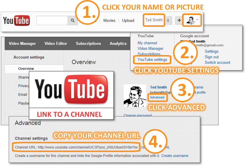 Email Signature - Get YouTube Channel URL