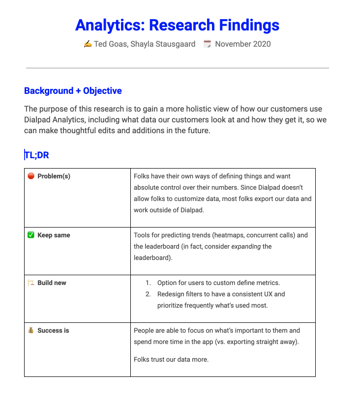 Research guide and summary.