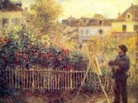 Renoir's painting of Monet at work in his garden at Argenteuil