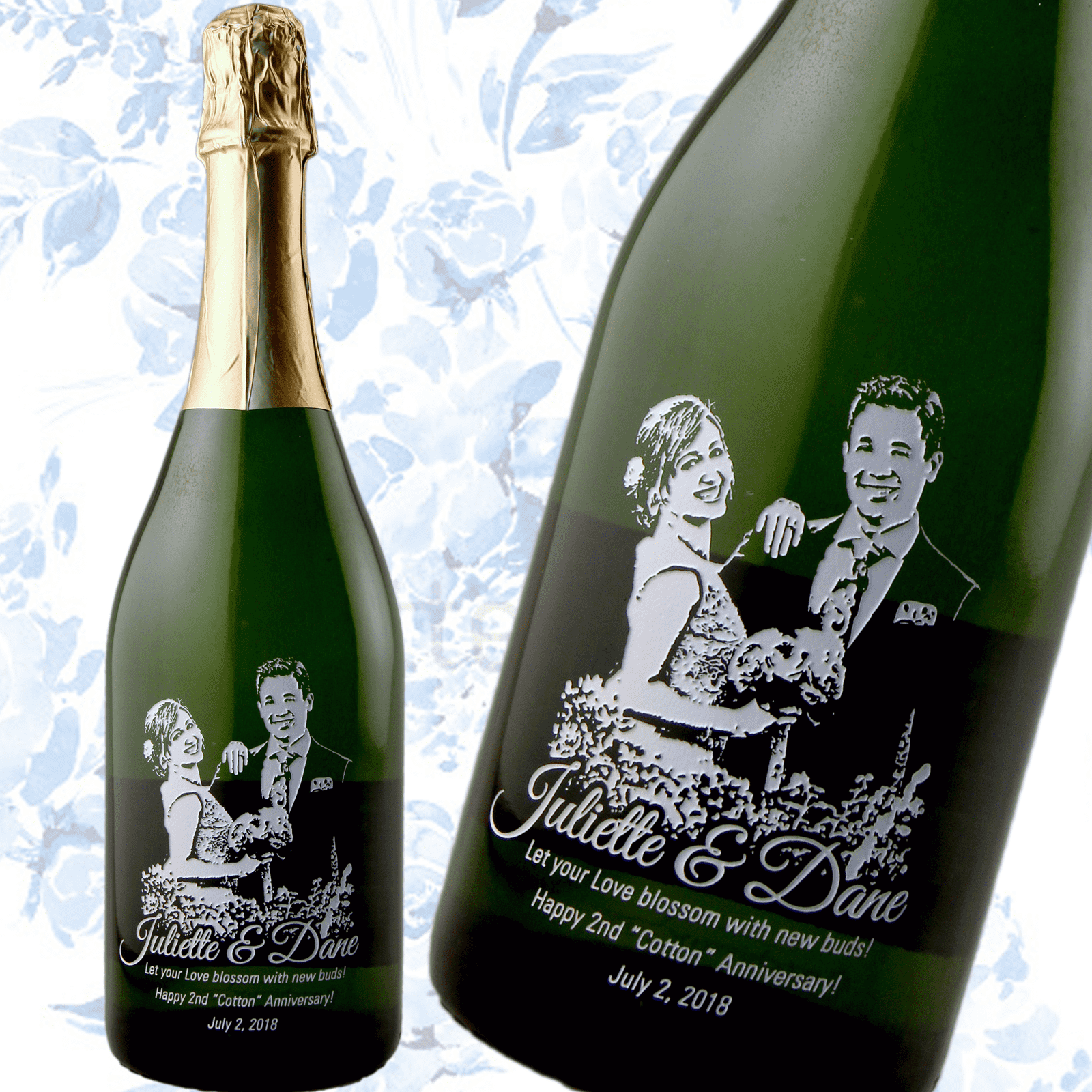 Custom Photo on Champagne Bottle