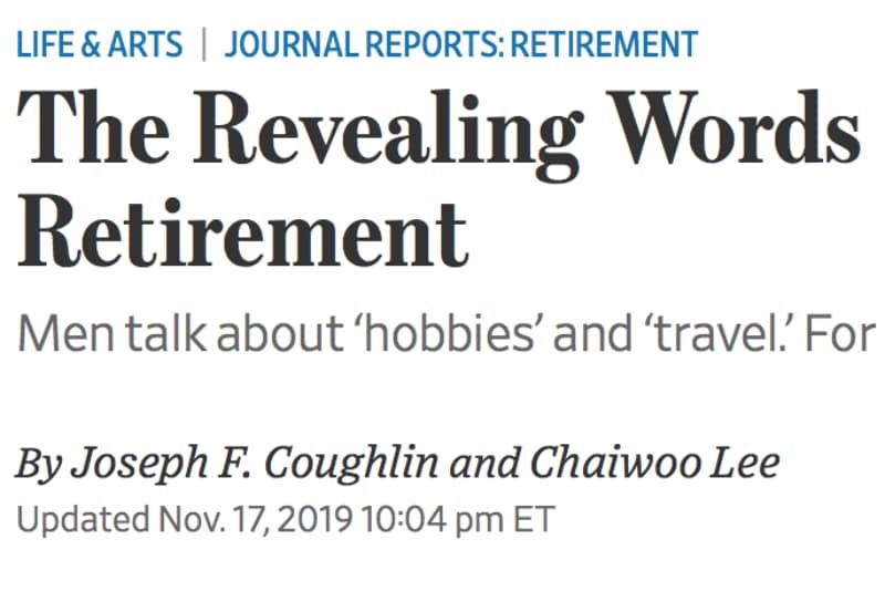 Revealing Words For Retirement