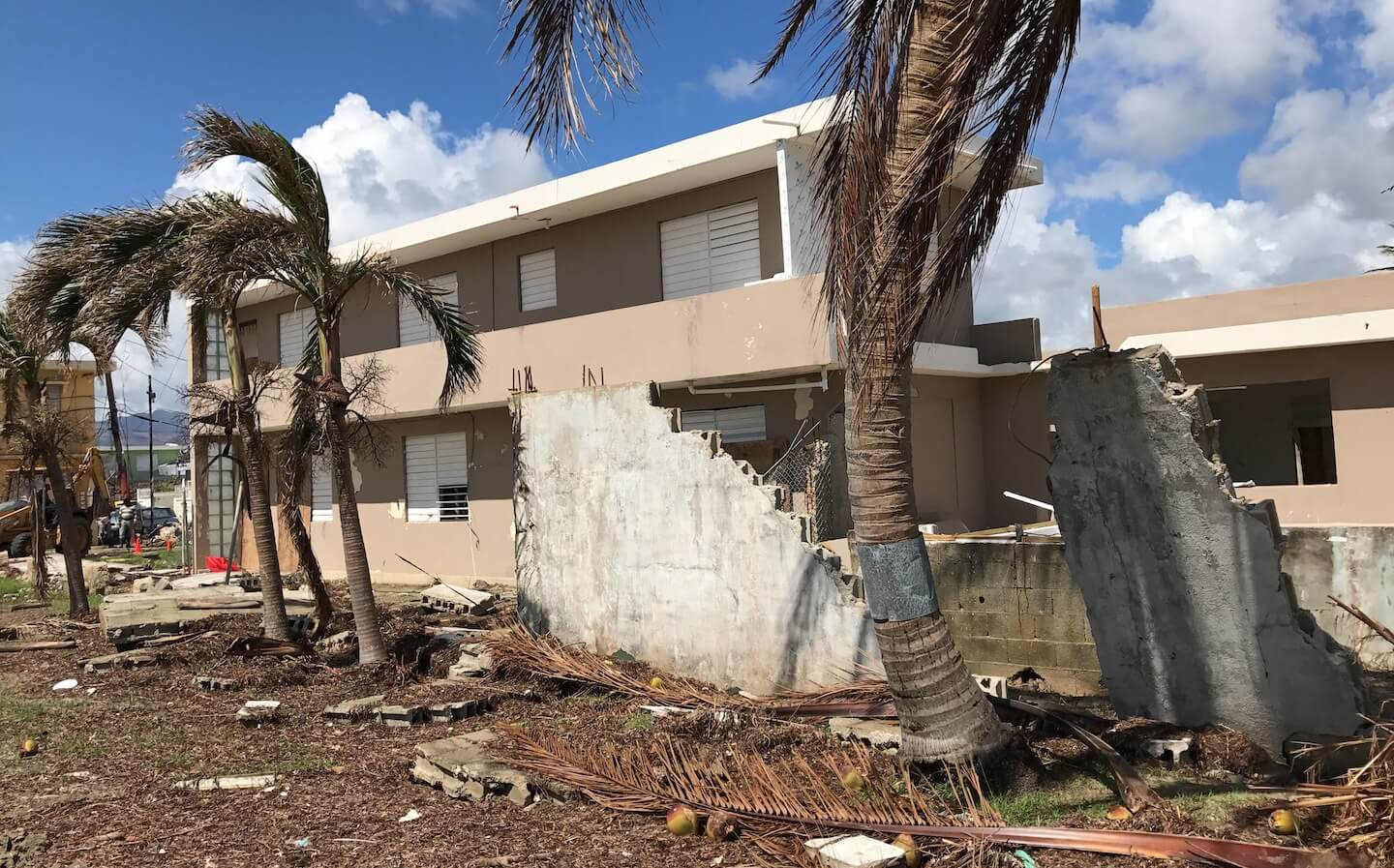 Damage assessment data collection in Puerto Rico (Image: NSF StEER team)