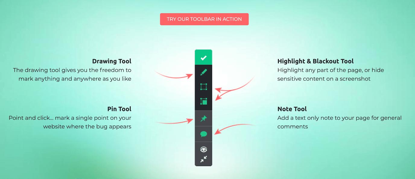 toolbar of DebugMe