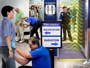 TSA pat down or full body scan choices