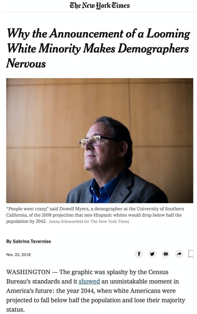 Dowell Myers  in the NYT