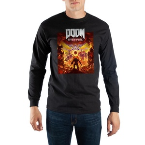 Doom Eternal Video Game Mens Black Long Sleeve Shirt
