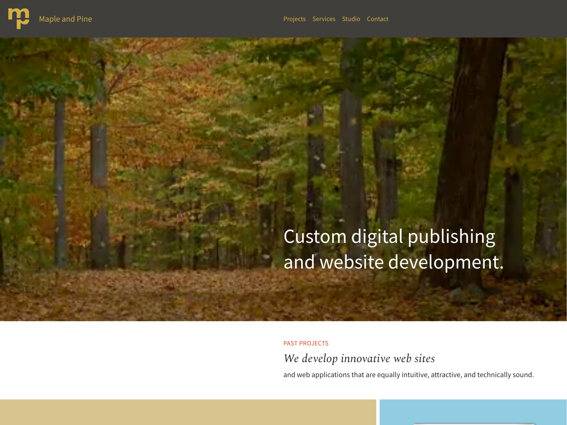 Maple and Pine home page