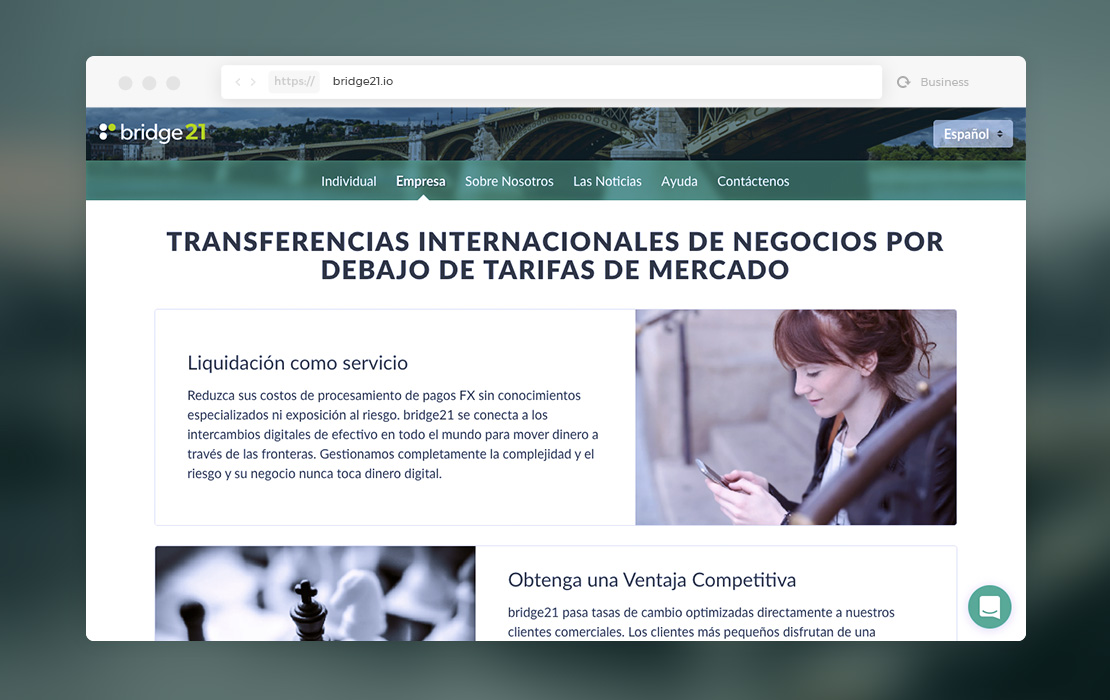 bridge21 for businesses, en español