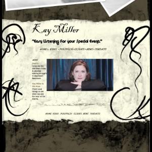 Piano Girl Miller Website Screenshot