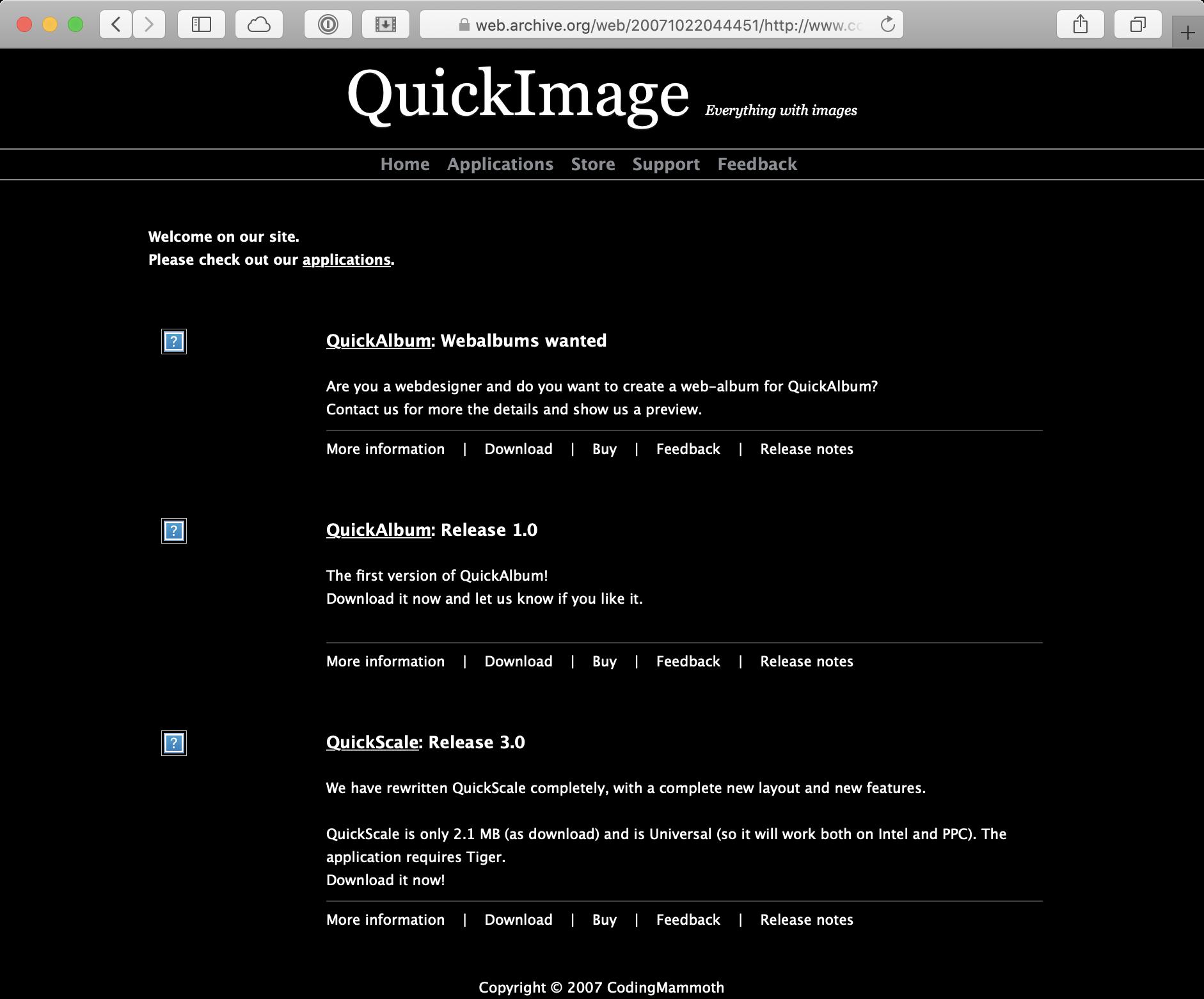 Website Mammoet Software 2007