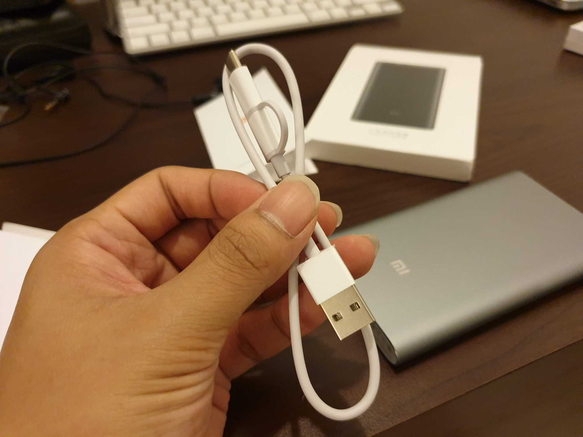 Mi Power Bank Pro 10000 Cable