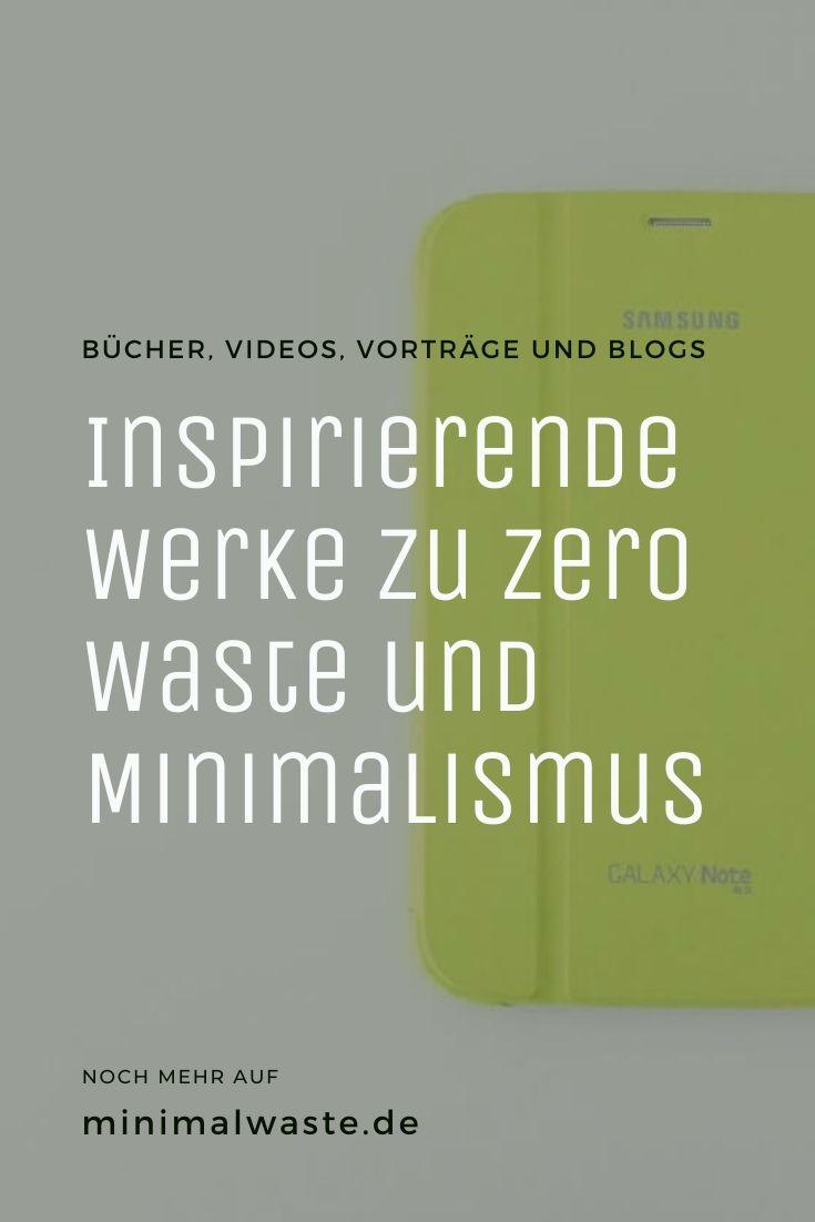 Pinterest Cover zu 'Inspirierende Werke zu Zero Waste und Minimalismus'