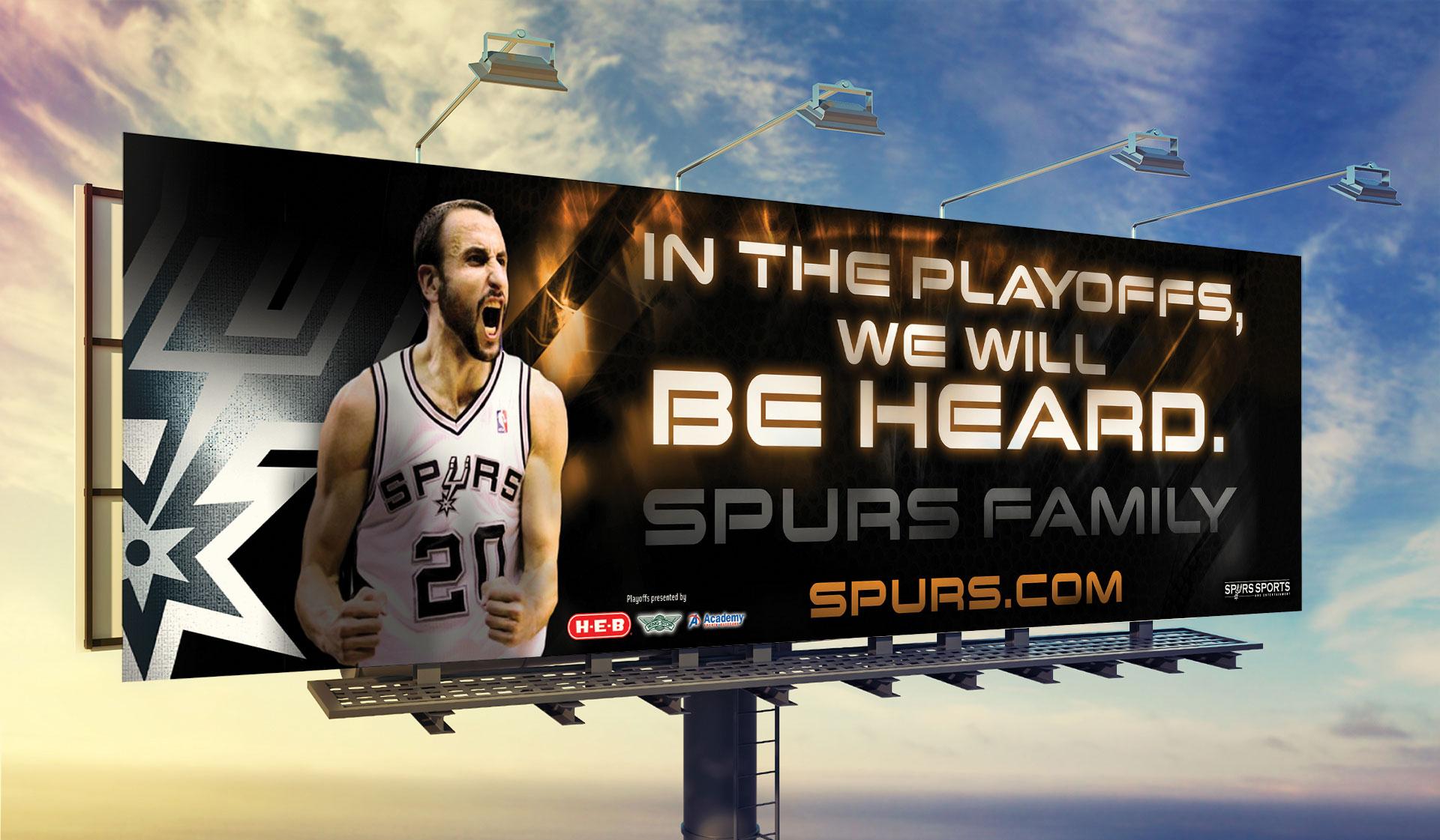 Spurs Playoff Billboard