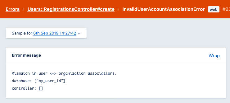 Screenshot of the AppSignal incident detail page for this custom error