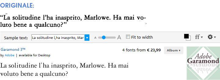 Triste, solitario y final (Vallecchi) font: Garamond