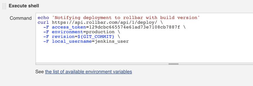 Screenshot of curl execute shell