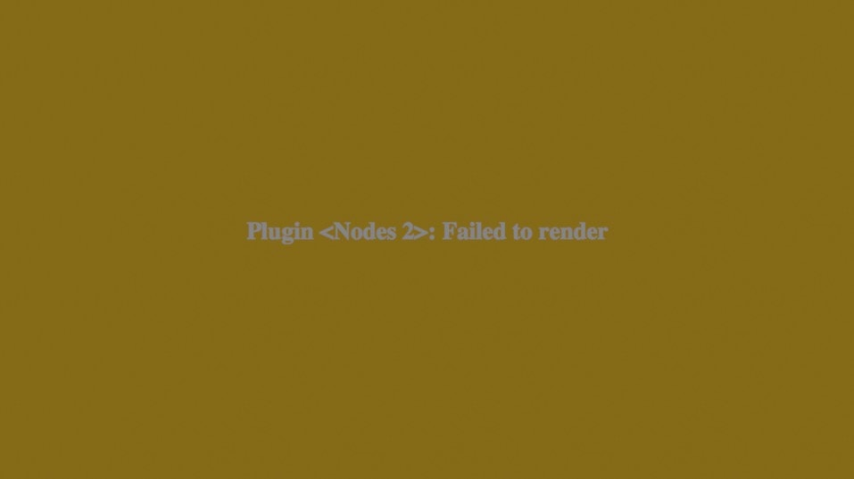 Plugin Nodes 2 Failed To Render