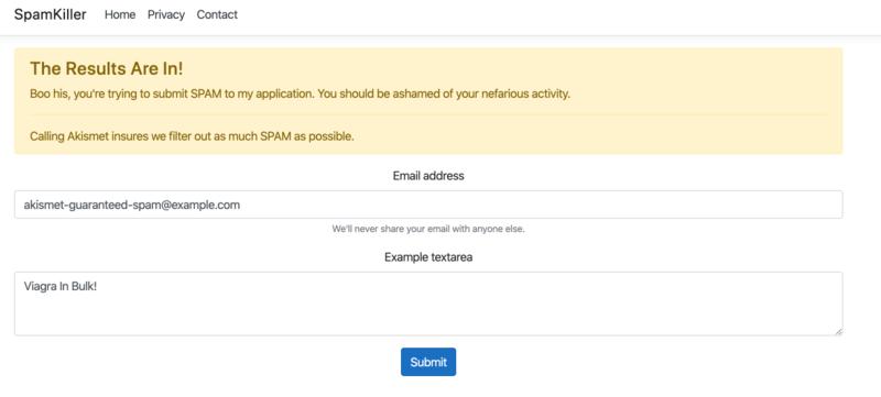 spam result