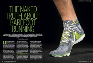 The Naked Truth About Barefoot Running - Runner's World UK April 2010