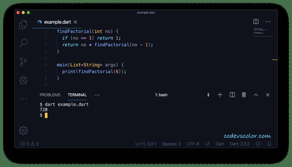 Dart recursive function