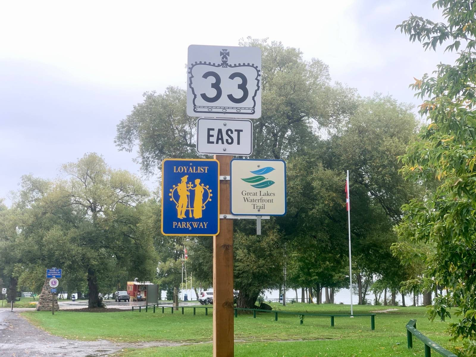 Sign for the Loyalist Parkway