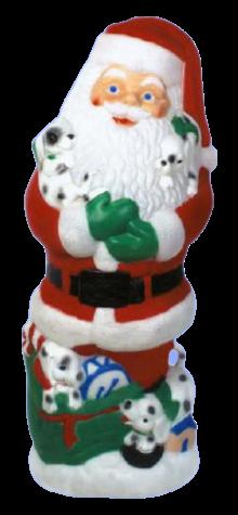 Jumbo Santa Claus With Puppies photo